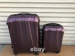 New other Samsonite hard shell purple luggage 2 piece set