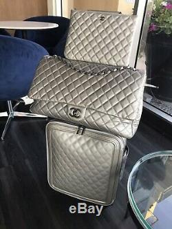 Nwt Chanel Coco Trolley Caviar Luggage Suitcase & Travel Carry-on Bag XXL Set