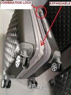 Nwt Dark Grey Abs Spinner Hardcase Suitcase Luggage Upright 302620 3pcs/set
