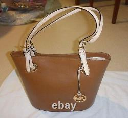 Nwt Michael Kors Jet Set Item Medium Tote Luggage Brown Leather Purse 38h5yttt2l