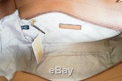 Nwt Michael Kors Jet Set Travel Large Chain Tote Bag Mk Vanilla Brown(luggage)