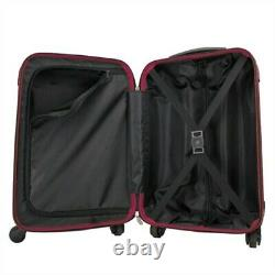 OPEN BOX Swiss Case 4W 2pc Suitcase Set Black / Purple