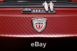 Red 100% Polycarbonate 3 PCS Spinner Luggage Set Hardshell Lightweight TSA Lock