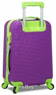Rolite Orbit 3-Piece Lightweight Hardside Spinner Luggage Set Purple