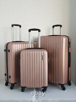 Rose Gold Hard Shell Suitcase Set Travel Luggage Trolley Case Lightweight Bag