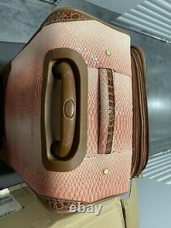 Samantha Brown Embossed Ombre 5-Piece Luggage Set DUSTY ROSE PINK & BONUS KIT