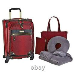 Samantha Brown Ombre Croco Embossed 6 Piece Luggage Set SEE COLORS NEW