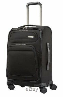 Samsonite Epsilon NXT 2-piece Softside Spinner Luggage Set Black OB MSRP $179