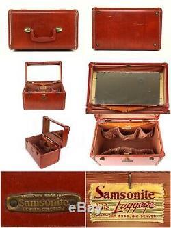 Samsonite Shwayder Bros VTG Hardshell Suitcases 4 Piece Set Brown Honey Style