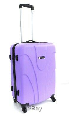 Set Of 3 Suitcases Lightweight 4 Wheel Spinner Trolley Case Travel Luggage Set