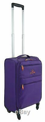 Set Of 4 single L weight 4 Wheel Spinner Cabin Luggage Trolley Travel Suitcases