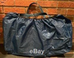 Set of 2 Joy Mangano JM New York Rolling Carry on Luggage 2 Compartment Bag Blue