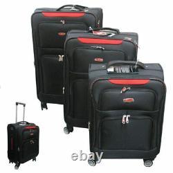 Set of 3 Luggage Travel Suitcase Set Trolley Spinner Wheels TSA Lock 20 25 30