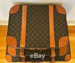 Set of 3 Vintage Authentic LOUIS VUITTON Luggage Case Suitcase Travel Bags