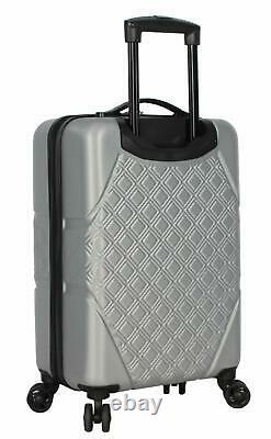 Steve Madden Karisma 3 Piece Spinner Suitcase Set Collection One Size Silver