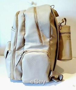 Steve Madden Large Backpack Diaper Bag Changing Pad & Bottle Holder Baby Set