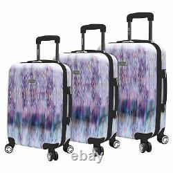 Steve Madden Luggage 3 Piece Suitcase Set With Spinner Wheels Diamond