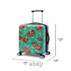 The Pioneer Woman Hardside Luggage 2 Piece Set, Carry-On and Checked Luggage