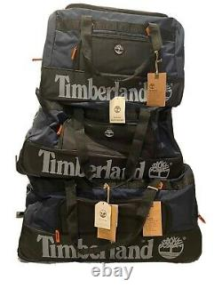 Timberland Highgate Springs Wheeled Travel Luggage Rolling Duffle Bag Set Blue