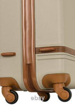 Tommy Bahama Sambuca Cream Cognac Hardside Luggage Spinner Collection Set 3 bags