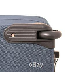 Transworld 5-piece Expandable Wheeled Upright Luggage Set Navy