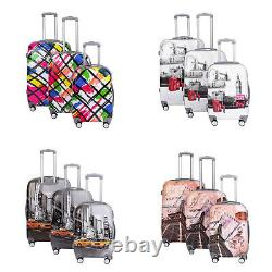Travel Hard Shell Cabin Suitcase 4 Wheel Luggage Trolley Case Lightweight Bag