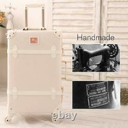 Travel Vintage Luggage Sets Cute Trolley Suitcases Set Lightweight Trunk Retr