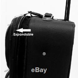 Traveler Choice Orange Amsterdam 8pc Wheel Luggage Suitcase Bag Packing Cube Set
