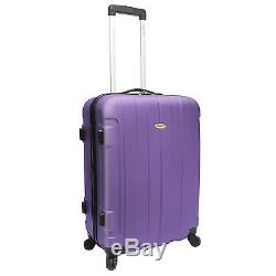 Traveler Choice Purple Rome 3pc Hardcase Lightweight Spinner/Rolling Luggage Set