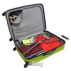 Traveler Choice Rome 3-Piece Green Hardside Spinner Rolling Luggage Set TSA Lock