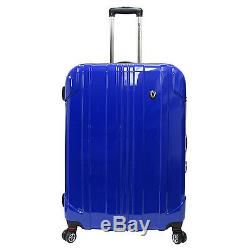 Traveler's Choice Blue Sedona 3-Piece Pure Polycarbonate Spinner Luggage Bag Set