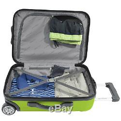 Traveler's Choice Rome 3-Piece Green Light Hardcase Spinner Rolling Luggage Set