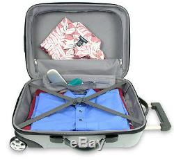 Traveler's Choice Silver Rome 3pc Hardcase Spinner Rolling Luggage Set TSA Lock
