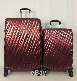 Tumi 19 Degree Short Trip & Int'l Carryon Bordeaux Luggage Set 228664 & 22866
