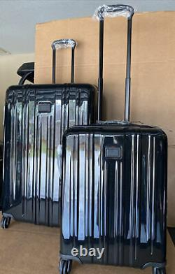 Tumi V3 Expandable Luggage Carry On & Extended Trip Set Of 2 Black MSRP $1,420