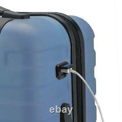 U. S. Traveler Bondi 3-Piece Spinner Luggage Set with USB Smart Carry-On In Navy