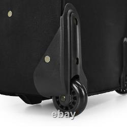 US Traveler Black New Yorker 3-Piece Expandable Rolling Luggage Suitcase Bag Set