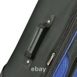 US Traveler Blue New Yorker 3-Piece Expandable Rolling Luggage Suitcase Bag Set