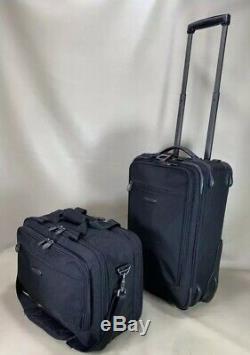 Used Dakota by Tumi Black Carry On Set 17 Briefcase & 20 Upright Suitcase