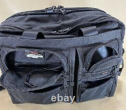 Used TUMI Exp Black Set 16 T-Pass Brief & 24 Upright Check Suitcase 2283D3