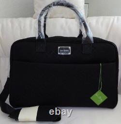 VERA BRADLEY Jet Set Go Weekender Classic Black Structured Travel Luggage NWT