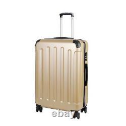 VOSSBACH Reisekoffer Set Champagner Kofferset mit Rollen Trolley 3 teilig