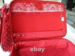 Vera Bradley Nantucket Red Complete Luggage Set