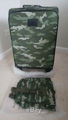 Victorias Secret Pink Suitcase Luggage Wheelie Logo Camo & mini backpack set