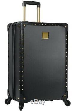 Vince Camuto 3 Piece Hardside Spinner Luggage Suitcase Set Black with Gold Hardwar