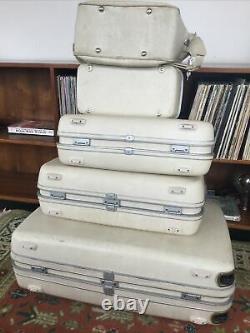 Vintage 1960's Samsonite Silhouette Hardside Luggage. Complete 5 Pc Set