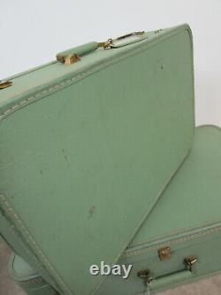 Vintage 50's Green Starline Suitcase Lady Baltimore Luggage 3 piece set Retro