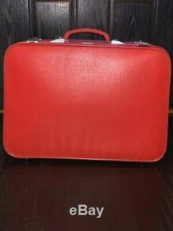 Vintage Amelia Earhart Red Luggage Set WithKeys Brand New offering sold separately