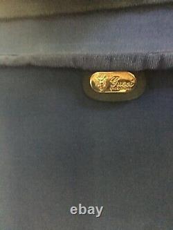 Vintage GUCCi GG Monogram Luggage Bag SUITCASE Set W Lock / Keys
