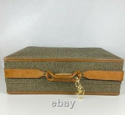 Vintage Hartmann 21 25 Tweed Leather Belt Combination Lock Luggage Set 2